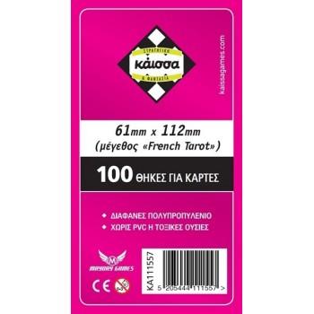 100 Θήκες Για Κάρτες Sleeves Μέγεθος French Tarot 61mm X 112mm