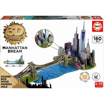 Educa Παζλ 3D Monument Puzzle 160Τεμ. Manhattan Dream 17000