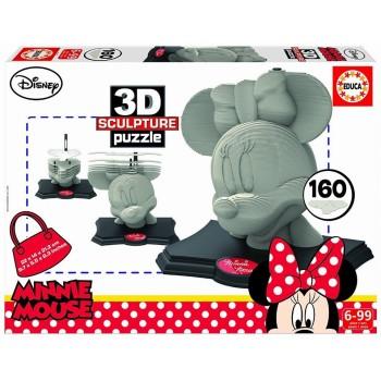 Educa Παζλ 3D Sculpture Puzzle 160Τεμ. Minnie 16970