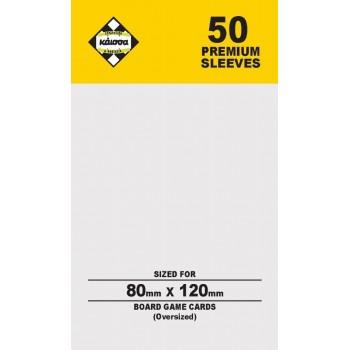 50 Θήκες Για Κάρτες Sleeves Μέγεθος Gold 80mm X 120mm