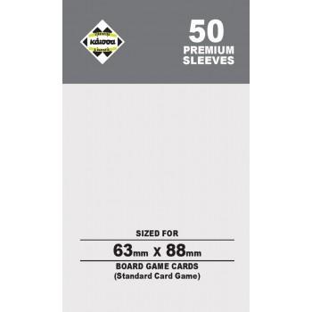 50 Θήκες Για Κάρτες Sleeves Μέγεθος Standard Card Game 63mm X 88mm