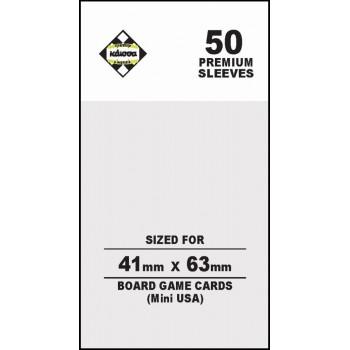 50 Θήκες Για Κάρτες Sleeves Μέγεθος Mini Usa 41mm X 63mm