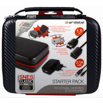 Ardistel Mini SNES Starter Pack (Carrying Case & Accessories)