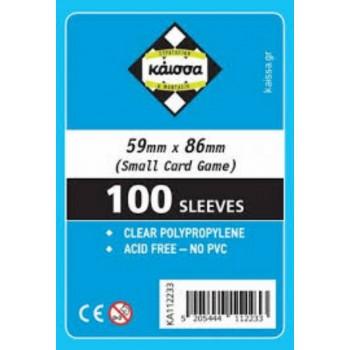 100 Θήκες Για Κάρτες Sleeves Μέγεθος Small Card Game 59mm X 86mm