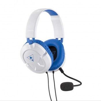 Turtle Beach Ear Force Recon 60P Wired USB Amplified Gaming Headset (White) PS4,PS3 (TBS-3309-01)