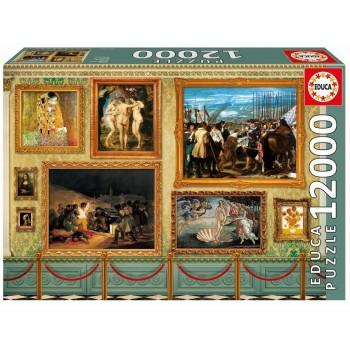 Educa Παζλ 12000Τεμ. Museum Master Pieces - 17137