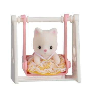 Sylvanian Families Baby Carry Case Cat On Swing 5201