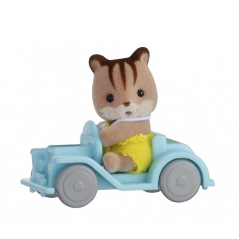 Sylvanian Families Baby Carry Case Squirrel On Car 5203