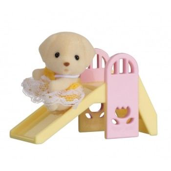 Sylvanian Families Baby Carry Case Dog On Slide 5204