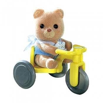 Sylvanian Families Baby Carry Case Bear On Tricycle 4391 (01)