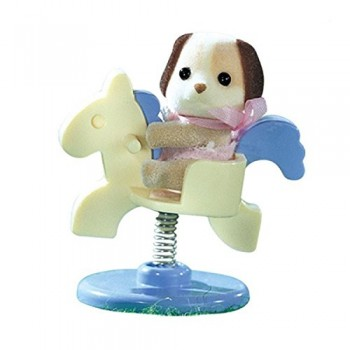 Sylvanian Families Baby Carry Case Dog On Pony Ride 4391 (02)