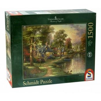 Schmidt 57452 Παζλ 1500τεμ. Kinkade - Σπίτι στη λίμνη