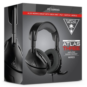Turtle Beach ear Force Atlas Three Wired Amplified Gaming Headset (Black) Pc,ps4,xbox One,mobile (Tbs-6350-02)