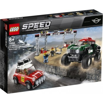 Lego Speed Champions 75894 1966 Mini Cooper s Rally and 2018 Mini John Cooper Works Buggy