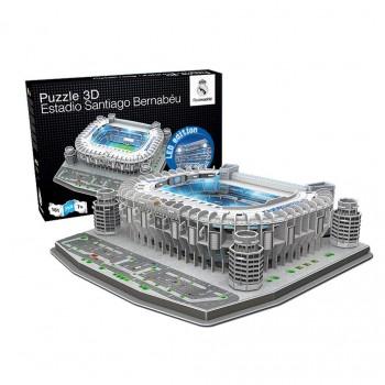 Nanostad Παζλ 3D 161τεμ. Ισπανία Γήπεδο Ρεάλ Μαδρίτης Santiago Bernabeu με LED Φώτα