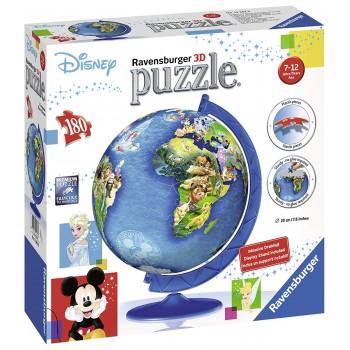 Ravensburger 3D Πάζλ 180τεμ. 12343 Disney Classics Globe