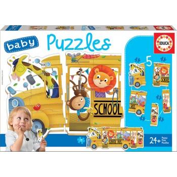 Educa Παζλ 3+4+5τεμ. Baby Animal Bus 17575