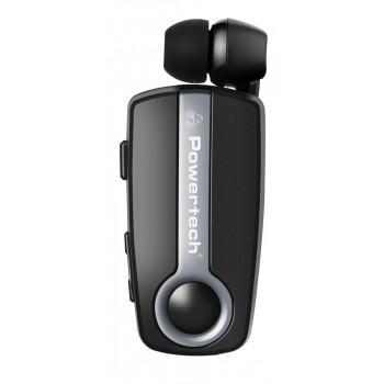 Powertech Bluetooth Headset Klipp Pt-733, Multipoint, BT V4.1, Ασημί Pt-733