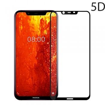 Powertech Tempered Glass 5D Full Glue Για Nokia 8.1 (y7), Black Tgc-0217