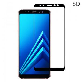 Powertech Tempered Glass 5D Full Glue Για Samsung A8 Plus 2018, Black Tgc-0228