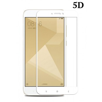 Powertech Tempered Glass 5D Full Glue, Xiaomi Redmi 5A Qualcomm, Λευκό Tgc-0296