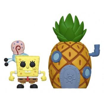 Funko Pop! Town: Spongebob Squarepants - Spongebob With Gary & Pineapple House #02 Vinyl Figure