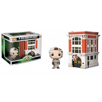 Funko Pop! Town: Ghostbusters - Dr.Peter Venkman With Firehouse #03 Vinyl Figure