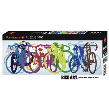 HEYE 29737 Παζλ 1000τεμ. Panorama - Bike Art Colourful Row