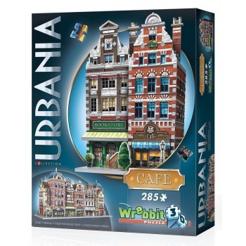 Wrebbit Παζλ 3D 285τεμ. (W3D-0503) Urbania Collection - Cafe