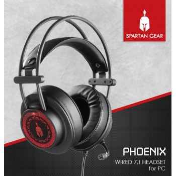 Spartan Gear Phoenix Wired 7.1 Headset For PC
