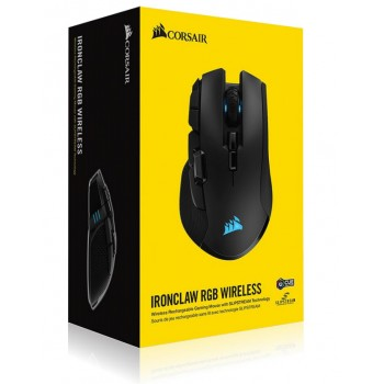 Corsair Ironclaw RGB Wireless Rechargable Gaming Mouse With SPIPSTREAM Technology CH-9317011-EU
