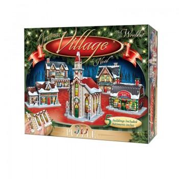 Wrebbit Παζλ 3D 116τεμ. (W3D-5601) Christmas Village