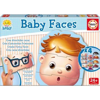 Educa παζλ 12τεμ. Παιδικό Infantil Baby Faces 15864