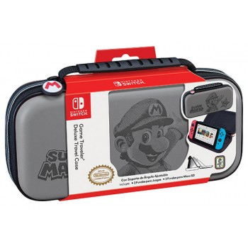 Ardistel Nintendo Switch™ Game Traveler Deluxe Travel Case Licensed (NNS46G) SuperMario Grey Design