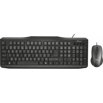 Trust Classicline Wired Keyboard with mouse Ελληνική Διάταξη  (23008)