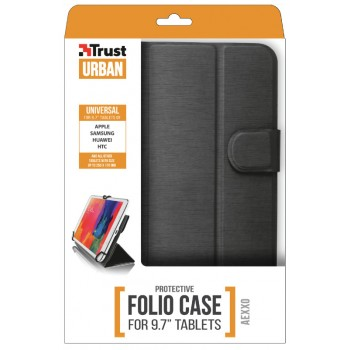 """Trust Aexxo Universal Folio Case 9.7"""" Black (21069)"""