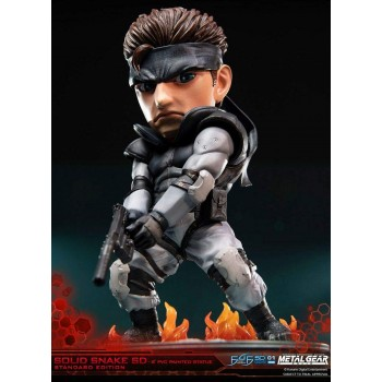 First 4 Figures Metal Gear Solid pvc sd Statue Solid Snake 20 cm (F4fmgssssdst)