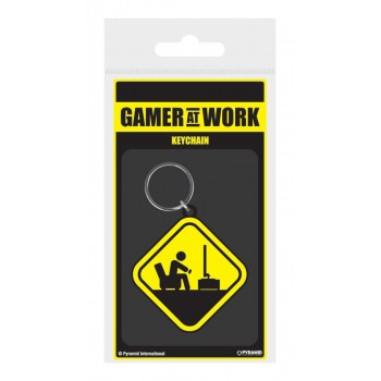 Pyramid Gaming Danger Gamer At Work Rubber Keychain (RK38872C)