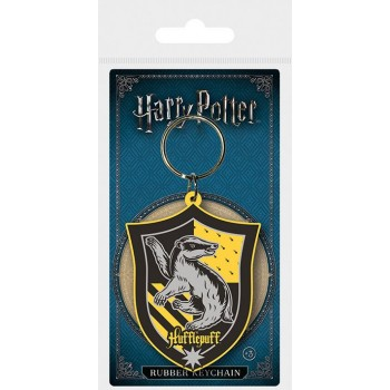 Pyramid Harry Potter Hufflepuff Rubber Keychain (RK38694C)
