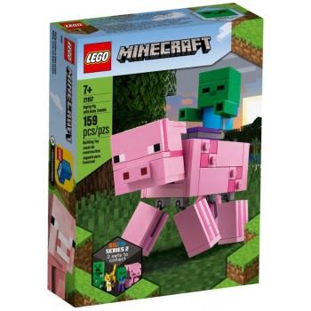 Lego Minecraft 21157 Bigfig pig With Baby Zombie