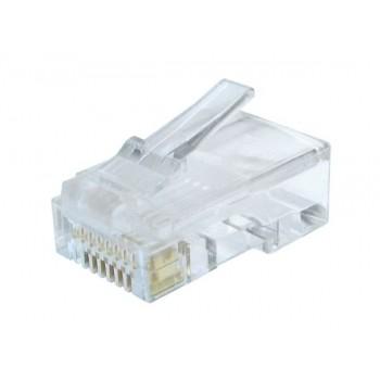 Ακροδεκτης Βυσμα Cablexpert 8p8c Rj45 Lan, utp Cat6, 100 Τεμαχια GM-8P8C6