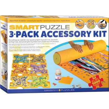 Eurographics 8955-0107 Smart-Puzzle 3-Pack Accessory Kit (Glue,Roll,Sorter)1000pcs