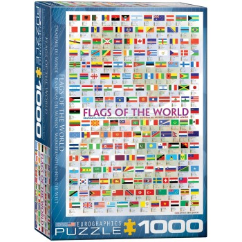 Eurographics Πάζλ 1000τεμ. 6000-0128 Flags of the World Maps Collection