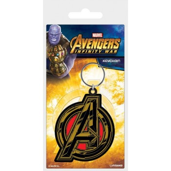 Pyramid International Avengers Infinity war Rubber Keychain Avengers Symbol 6 cm Rk38797c