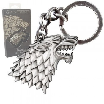 Noble Collection Game of Thrones Metal Keychain Stark Sigil Nob0084
