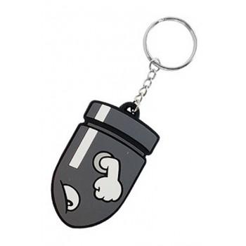 Difuzed Super Mario Bros. Rubber Keychain Bullet Bill 7 cm Ke141762ntn
