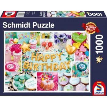 Schmidt 58379 Παζλ 1000τεμ. Χαρούμενα Γενέθλια