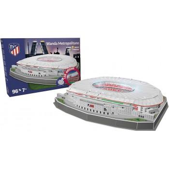 Nanostad Παζλ 3D 96τεμ. Ισπανία Γήπεδο Αθλέτικο Μαδρίτης Metropolitano LED Edition 34403