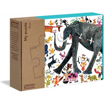 Clementoni 16217 παζλ 24τεμ. XL My Puzzle - Οικολογικά - Φύση/Ελέφαντας