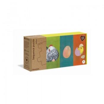 Clementoni 16226 παζλ 32τεμ. My Puzzle - Οικολογικά - Φύση/Κοτοπουλάκια - (Περιλαμβάνει 4 Διαφορετικά σχέδια Ιστορίες)